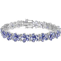 Fine Jewelry Genuine Tanzanite and Diamond-Accent Sterling Silver Bracelet kXpAm