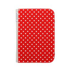 Kindle Case Hot Red Polka Dot  http://www.zazzle.com/kindle_case_hot_red_polka_dot-222067964463269490