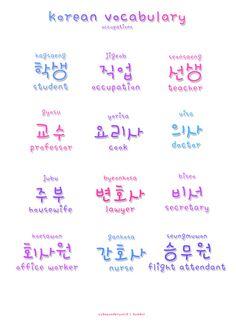 ❋learn korean - professions❋