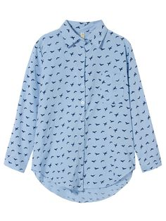 bird print blouse| $14.99  hipster vintage kawaii plus size fashion plus size clothing fachin blouse top button up under20 under30 free shipping banggood