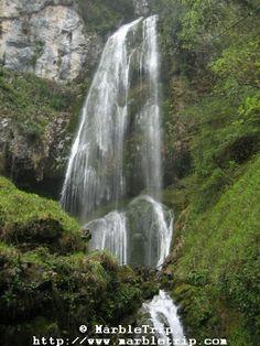Waterfall on Beyos gorge road.
