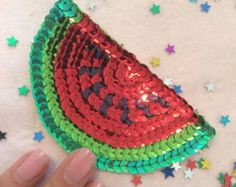 Kawaii Shooting star sequin patch  any colour One of a Kind