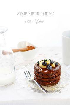 Baked oatmeal and cocoa pancakes by Diario di una Creamamma