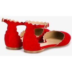 purchase cheap 4a7b6 fd78e Chloé Lauren scalloped ballerina flats