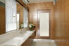Lupine Lane, Auburn CA - modern - bathroom - sacramento - Benning Design Associates Beige Bathroom, Master Bathroom, Bathroom Vanities, Bathroom Ideas, Best Bathroom Colors, Walnut Doors, Window In Shower, Contemporary Vanity, Bathroom Windows