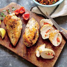 Basil, Feta, and Quinoa Stuffed Chicken Breasts | MyRecipes.com
