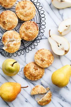 Marzipan Pear Hand Pies for National Pear Month from @loveandoliveoil