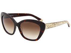 Juicy Couture Glittered Cat-Eye Sunglasses Tortoise Glitter/Brown Gradient - 6pm.com