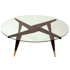 Compass Cocktail Table by Gio Ponti for Singer and Sons | From a unique collection of antique and modern coffee and cocktail tables at http://www.1stdibs.com/furniture/tables/coffee-tables-cocktail-tables/