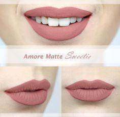 Krásna nude farbička tekutého matného rúžu Amore Matte značky Milani.