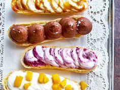 Zu französischen Eclairs gehört unbedingt eine cremige Füllung. Unsere 6 köstlichen Ideen sorgen für Abwechslung beim Kuchengenuss. Bon appétit!