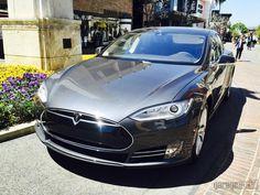 Test drive the new Tesla at #thegrove #tesla #teslamotor #losangeles #garagesocial #teslaengine #testdrive #california