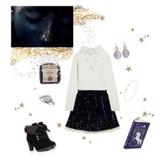 """Child Of The Moon"" by kyara112 ❤ liked on Polyvore featuring Haider Ackermann, Jennifer Meyer Jewelry and Anaconda"