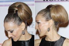 Sarah Jessica Parker New Hairstyles of Ponytail Styles as Hairstyles for Women by Celebrity Ponytail Styles, Ponytail Hairstyles, Wedding Hairstyles, Cool Hairstyles, Long Hair Cuts, Long Hair Styles, U Shaped Hair, Amanda, Corte Y Color