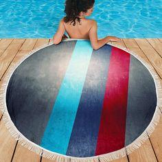 M Sport Faded Beach Towel - myautogift Beach Towel, Beach Mat, Beach Blanket, Blankets, Outdoor Blanket, Explore, Sport, Outdoor Decor, Deporte