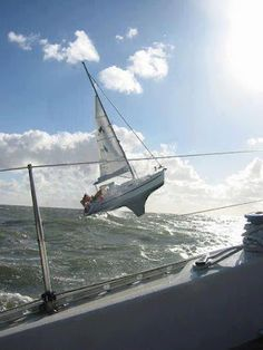 Some days you'd rather be windsurfing... #Sailboat #sailing -  surely this isn't real???