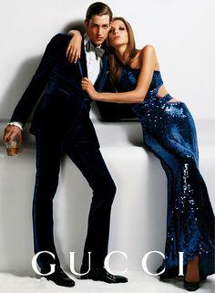 Gucci Fall/Wint 2004 - Maximiliano Patane & Daria Werbowy by Mario Testino Gucci Ad, Tom Ford Gucci, Gucci Campaign, Campaign Fashion, Trendy Fashion, Fashion Models, High Fashion, Womens Fashion, Fashion Clothes
