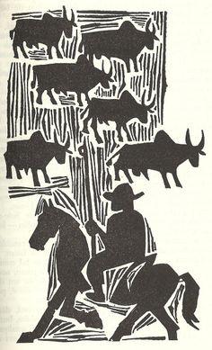 ilustração de Poty para o livro Sagarana