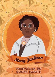 Mary Jackson science print | Etsy Margaret Hamilton, Katherine Johnson, Science Illustration, Great Women, Women In History, Irene, Jackson, Etsy, Illustrations