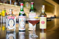 """The East Village restaurant's manager Travis Brown is now offering a rotating serious of """"vintage"""" cocktails using rare 1960s and '70s bottles plucked directly from the on-set alcohol carts dotting the offices at Cooper Sterling. The limited edition cocktails ($25) made with over 50-year-old spirits are available nightly until that particular bottle runs dry."""