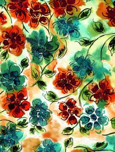 water color...floral pattern