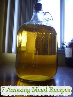 Mead or honey wine is the oldest alcoholic drinks known to man. Here are a bunch of recipes on how to make mead. Homemade Wine Recipes, Homemade Alcohol, Homemade Liquor, Drinks Alcohol Recipes, Alcoholic Drinks, Beverages, Cocktails, Mead Wine, Mead Beer
