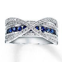 38 Best Sapphire Amp Diamond Band Images Diamond Jewelry Sapphire Diamond