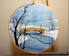 P. Buckley Moss Winter Ornaments - Use for Christmas and then for winter decor!