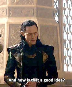 Excellent question... Loki Avengers, Loki Thor, Loki Laufeyson, Marvel Dc Comics, Marvel Avengers, Loki Gif, Marvel Gif, Thomas William Hiddleston, Tom Hiddleston Loki