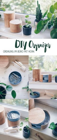 DIY Organizer fürs Büro selbermachen – DIY Ideen mit Kork – Upcycling aus Came… DIY Organizer for the Office DIY – DIY Ideas with Cork – Upcycling from Camembert Boxing ~ DIY Inspirationen ~ Diy Organizer, Diy Organization, Diy Hanging Shelves, Diy Wall Shelves, Mason Jar Crafts, Mason Jar Diy, Diy Inspiration, Diy Interior, How To Make Paper