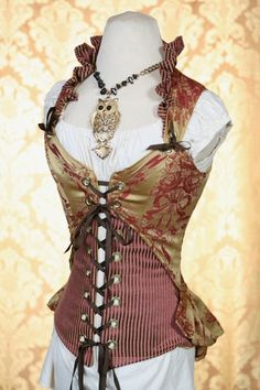 Victorian corset and amazing owl jewelry!