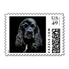 Black Cocker Spaniel small sized Postage. Wanna make each letter a special delivery? Try to customize this great stamp template and put a personal touch on the envelope. Just click the image to get started!