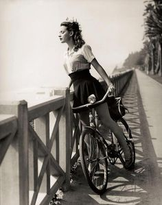 "Susan Peters in ""Random Harvest,"" 1942 ? Photo from the book Hollywood Rides a Bike by Steven Rea"