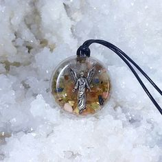 Great looking pendant ' Orgonite Archangel Gabriel - orgone pendant from ElveMagic by DaWanda.com