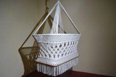 100% Handmade Organic Off-White Cotton Baby Crib Cradle Bassinet Hammock - Modern - Mission Hammocks - 1