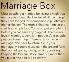 we: the marriage box.