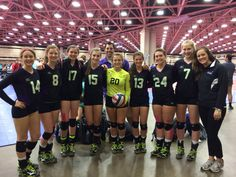#16.  A posed picture of me and my team. @USA Volleyball