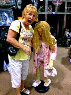 Sandra at Halloween Store Oct 24 2012 - 06