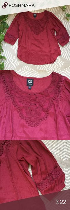 Bobeau Top In perfect condition, size medium. Perfect color for a fall wardrobe! bobeau Tops Blouses