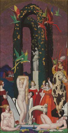 'La Femme à L'Ara' by Jean Dupas, 1921