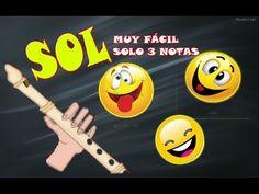 La canción más divertida para flauta dulce. Muy fácil (solo 3 notas), tutorial con animación. - YouTube