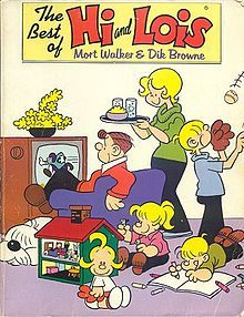 The comic strip Hi and Lois, by Mort Walker and Dik Browne, is launched. Cartoon Books, Comic Book Characters, Comic Character, Comic Books, Watch Cartoons, Old Cartoons, Classic Comics, Classic Cartoons, Mort Walker