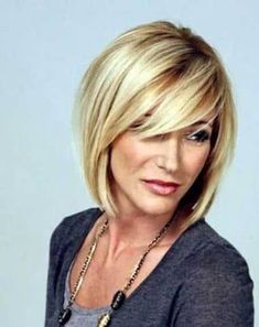 Over 40 Hairstyles, Oval Face Hairstyles, Layered Bob Hairstyles, Haircuts For Fine Hair, Short Haircuts, Pretty Hairstyles, Medium Haircuts, Hairstyles Haircuts, Women's Medium Hairstyles