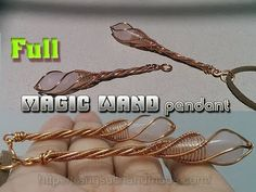 Magic wand pendant with drop stone without holes - full version ( slow )...