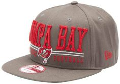 NFL Unisex Adult Tampa Bay Buccaneers Lateral Snapback Cap (Pewter, One Size Fits All) by New Era. $26.99. The Lateral Snap Is A New Era® 9Fifty™ Snapback Cap Featuring Retro NFL City And Team Logos.  The Cap Has An Embroidered (Raised) City Name And Team Logo On The Front, And A Stitched New Era® Flag At Wearer's Left Side.