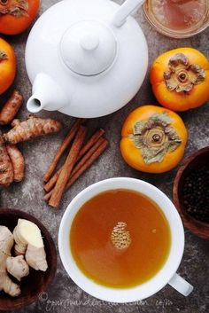 Spiced Persimmon Turmeric Tea (By Gourmande in the Kitchen)