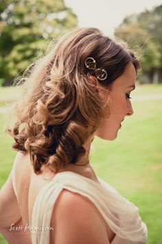 Wedding Hair down with curls http://thebridalstylists.co.uk/