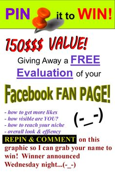 Pin It To WIN!!! Repin & comment on this graphic to win!  (-_-)