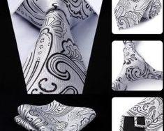 Luxusná kravatová sada - kravata a vreckovka so vzorom v sivej Tie, Accessories, Fashion, Moda, La Mode, Cravat Tie, Fasion, Ties, Fashion Models