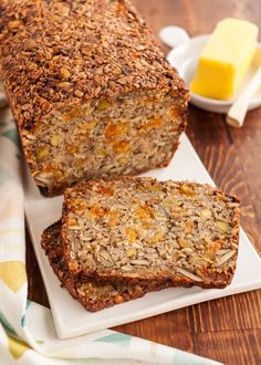 This might not resemble the kind of toast you're used to having for breakfast, but just trust me — this bread is everything you want in the first meal of the day. It tastes of maple, cinnamon, and dried apricots, but all those nuts and seeds keep the sweetness grounded. It's simultaneously crunchy and chewy, good on its own, but even better when toasted. I think it's best nibbled leisurely with a cup of coffee (like most things), but this bread is also perfectly amenable to being stuffed in…